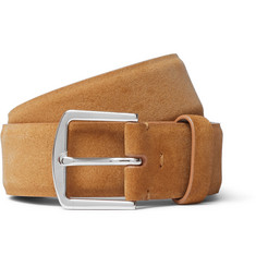 Loro Piana - 3.5cm Tan Suede Belt