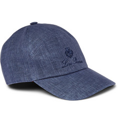 Loro Piana Embroidered Linen and Cotton-Blend Baseball Cap