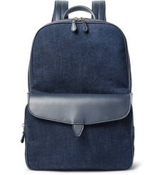 Loro Piana Journey Leather-Trimmed Denim Backpack