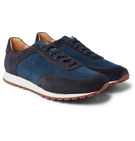Weekend Walk Two-tone Suede Sneakers - Blue