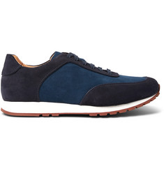 Loro Piana Weekend Walk Two-Tone Suede Sneakers