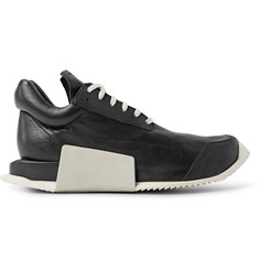 Rick Owens + adidas Level Runner Low Leather and Rubber Sneakers