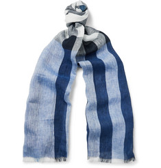 Burberry Checked Linen Scarf