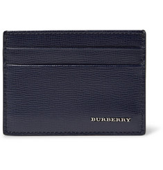 Burberry Cross-Grain Leather Cardholder