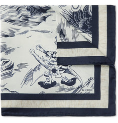 Gucci - + Disney Donald Duck Silk Pocket Square