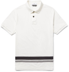 Stone Island Printed Cotton-Jersey Polo Shirt
