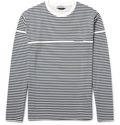 Stone Island Striped Cotton-Jersey T-Shirt