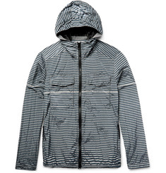 Stone Island Striped Shell Hooded Jacket