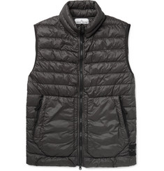Stone Island Quilted Garment-Dyed Shell Down Gilet