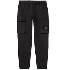 Stone Island Tapered Stretch-Cotton Trousers
