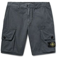Stone Island Slim-Fit Brushed-Cotton Cargo Shorts