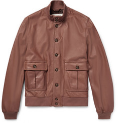 Valstar - Valstarino Washed-Leather Bomber Jacket