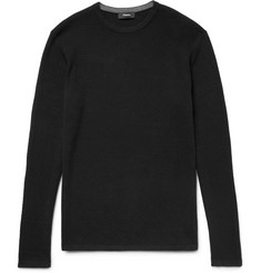 Theory Savaro Honeycomb-Knit Cotton Sweater