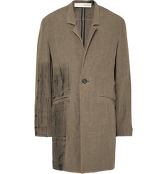 Isabel Benenato Painted Linen Overcoat