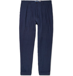 Blue Blue Japan Tapered Linen Trousers