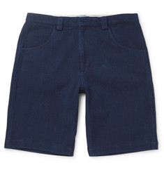Blue Blue Japan Sashiko-Stitched Cotton Shorts
