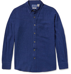 Blue Blue Japan Slim-Fit Indigo-Dyed Muslin Shirt