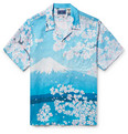 Blue Blue Japan - Camp-Collar Printed Woven Shirt