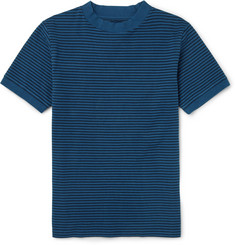 Blue Blue Japan Striped Cotton-Blend Jersey T-Shirt