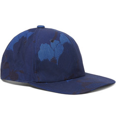 Blue Blue Japan Indigo-Dyed Floral-Print Cotton-Canvas Baseball Cap