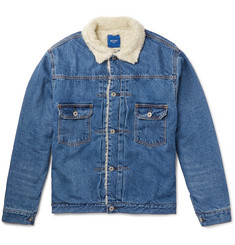 Beams - Faux Shearling-Lined Denim Jacket