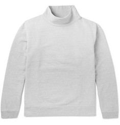 Beams Loopback Cotton-Jersey Mock Neck Sweatshirt