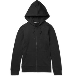 Y-3 Printed Loopback Cotton-Jersey Zip-Up Hoodie