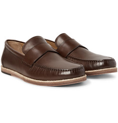 Ermenegildo Zegna Biarritz Leather Loafers