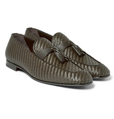 Ermenegildo Zegna - Lido Pelle Tessuta Leather Tasselled Loafers