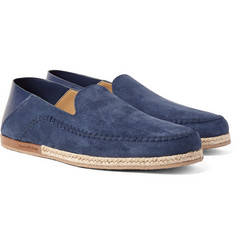 Ermenegildo Zegna - Taormina Suede and Leather Espadrilles