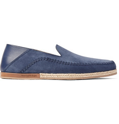 Ermenegildo Zegna Taormina Suede and Leather Espadrilles