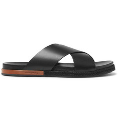 Ermenegildo Zegna Taormina Leather Sandals