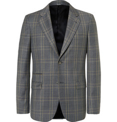 Stella McCartney - Grey Slim-Fit Prince of Wales Checked Wool Suit Jacket