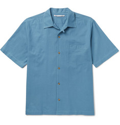 Stella McCartney Camp-Collar Cotton-Piqué Shirt