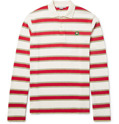 Stella McCartney Striped Cotton-Jersey Polo Shirt