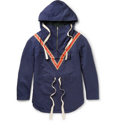 Stella McCartney - Chevron-Detailed Cotton and Linen-Blend Canvas Anorak