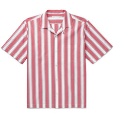 Stella McCartney Camp-Collar Striped Cotton-Poplin Shirt