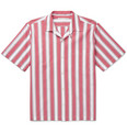 Stella McCartney - Camp-Collar Striped Cotton-Poplin Shirt