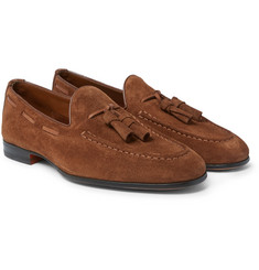 Santoni - Suede Tasselled Loafers