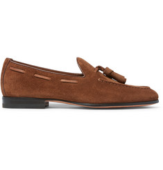 Santoni Suede Tasselled Loafers