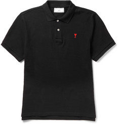 AMI Slim-Fit Cotton-Piqué Polo Shirt