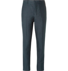 AMI Tapered Linen Trousers