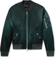 AMI Satin Bomber Jacket