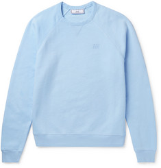 AMI Loopback Cotton-Jersey Sweatshirt