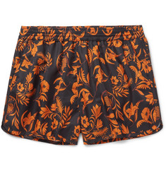 AMI Short-Length Floral-Print Swim Shorts