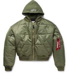 Vetements - + Alpha Industries Oversized Reversible Padded Shell Bomber Jacket
