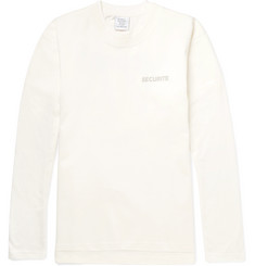 Vetements + Hanes Slim-Fit Layered Printed Cotton-Jersey T-Shirt