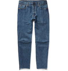 Vetements - + Levi's Slim-Fit Tapered Patchwork Denim Jeans