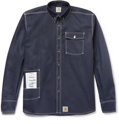 Vetements + Carhartt Oversized Cotton-Blend Twill Overshirt