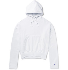 Vetements + Champion Loopback Cotton-Blend Jersey Hoodie